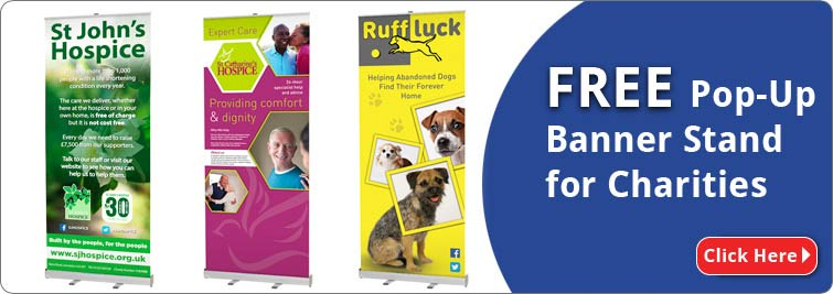 Charity Banner Stand Dontation | Free Banner