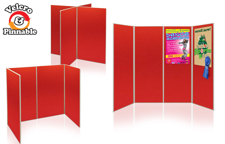 Exhibition boards for schools. Full height display boards.
