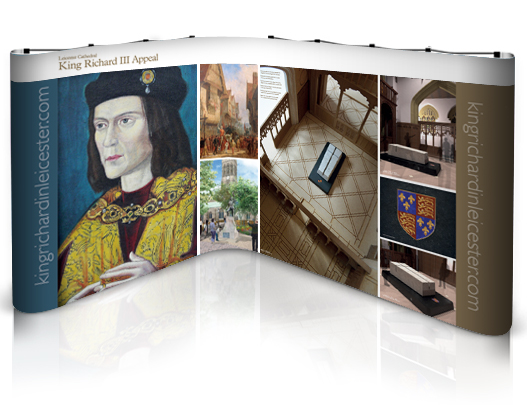 Popup stand L-shape: Richard III design