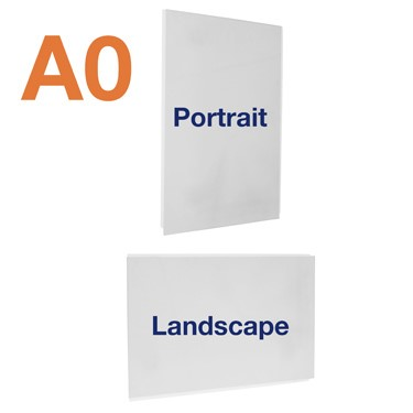 A0 acrylic poster pocket that can be used double sided