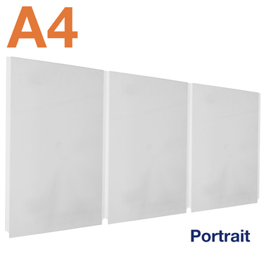 Easy access triple A4 pocket can be used double sided