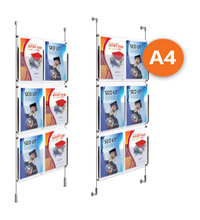 6 x A4 Cable Display Kit - Leaflet Holders