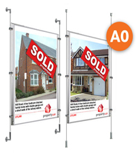 1 x A0 Cable Display Kit - Poster Holders