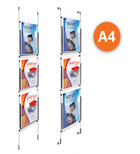 3 x A4 Cable Display Kit - Leaflet Holders