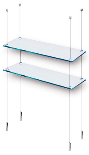 floor to ceiling cable shelving narrow ral display. Black Bedroom Furniture Sets. Home Design Ideas