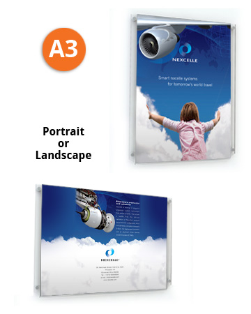 Easy A3 portriat or landscape poster change