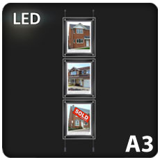 3 x A3 LED Light Pockets
