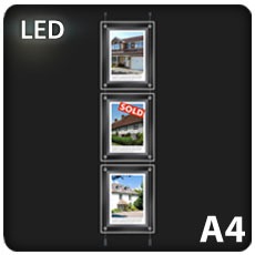 3 x A4 LED Light Pockets