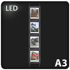 4 x A3 LED Light Pockets