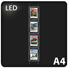 4 x A4 LED Light Pockets