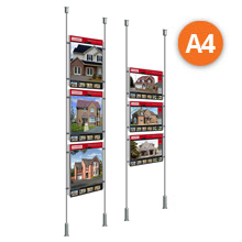 Floor-to-Ceiling Rod Displays - 3 x A4 Posters