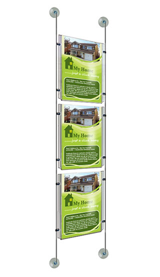 Suction pad window poster pocket display