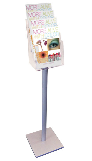 A4 free standing 4 tier A4 portrait leaflet holders.