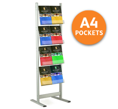 Connect-1 Floorstanding Brochure Stand - A4 Portrait