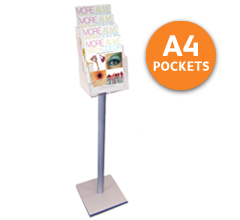4-tier A4 Free Standing Leaflet Holder