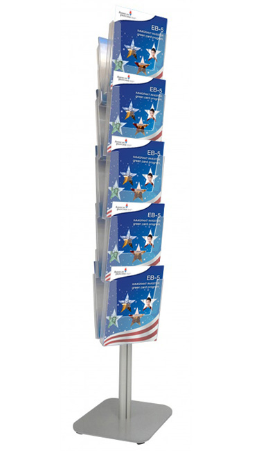 Leaflet holders with 10x A4 clear acrylic pockets.