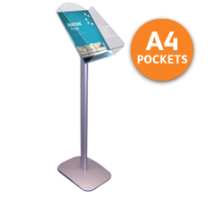 A4 Floor Standing Portrait Leaflet Holder