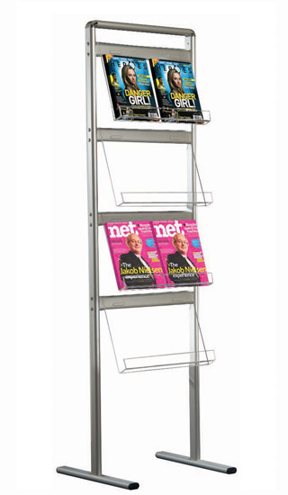 The Connect 1 single sided leaflet and brochure stand boasts capacity for up to 8x A4 portrait leaflets or brochures.