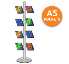Duo Leaflet & Brochure Holder - 8 x A5 Pockets