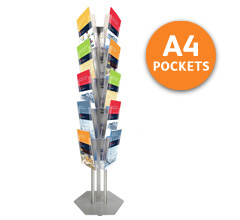 Tower 15 Leaflet Holder with 15 x A4 Pockets