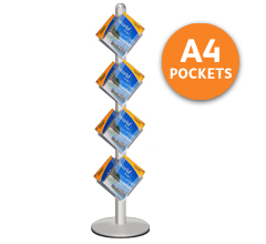 Zig Zag Leaflet Stands with 8 x A4 Pockets