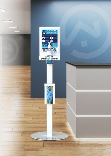 Keep offices and reception areas safe with hand sanitising stands