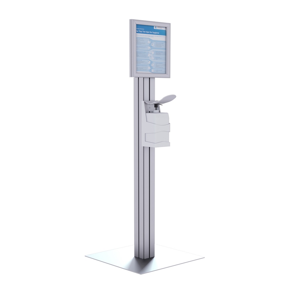 Freestanding sanitising stations from RAL Display