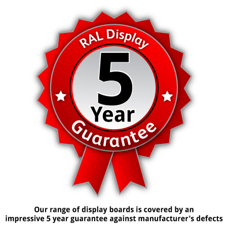 5 year guarantee against manufacturer's defects.