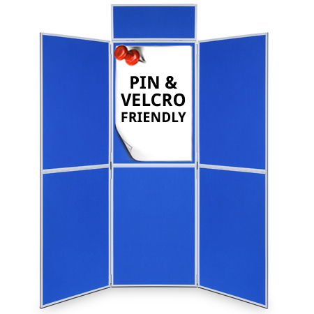6 panel folding display boards from RAL Display
