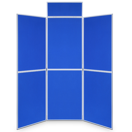 6 folding display boards with 900 x 600mm, 1000 x 700mm or 1m x 1m panels.