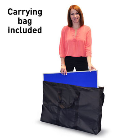 Panel carrying bag for folding display systems.