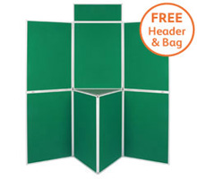 Pro-Fold 7 Panel 1000 x 700mm Folding Display Boards & Tabletop