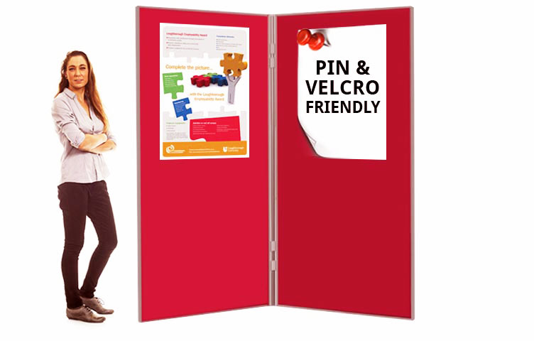 6ft high exhibition boards perfect for presentations and open days