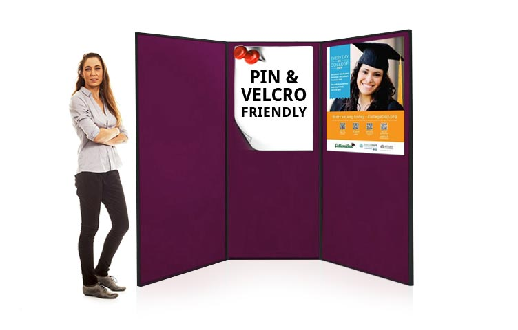 Large display boards are ideal for poster presentations and exhibitions