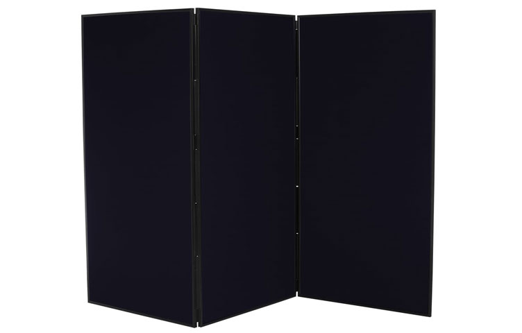 Black display boards - 3 Panels