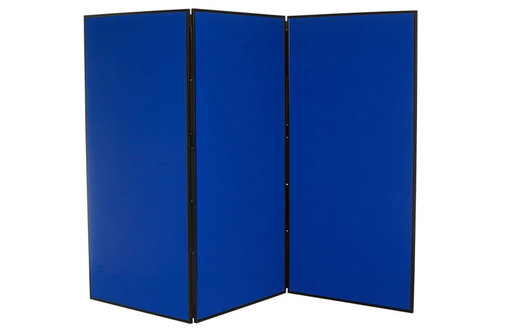 Blue display boards