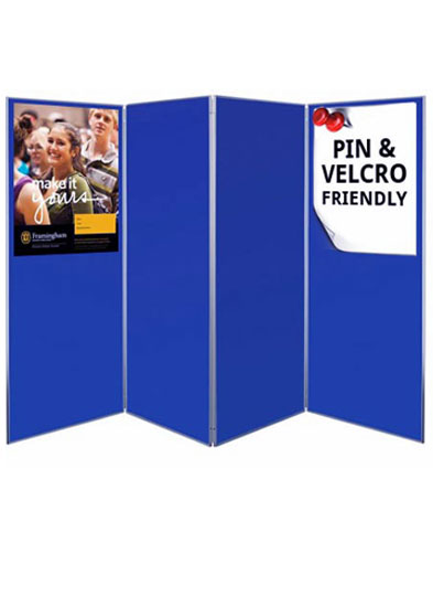 Blue presentation boards ideal for schools