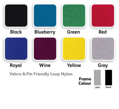 Colour choices: display boards