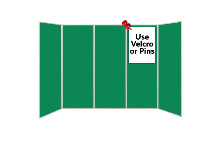 Green display boards - 5 panels
