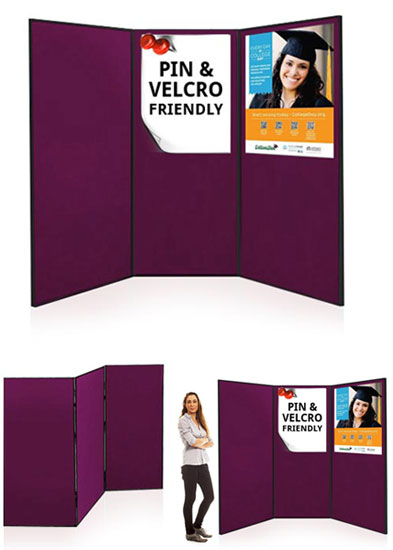 Large display boards ideal for schools and colleges - 3 panels