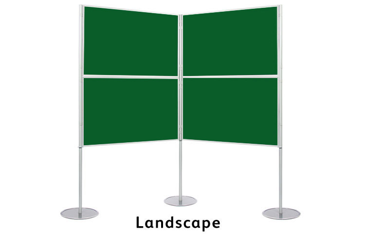 Landscape display boards