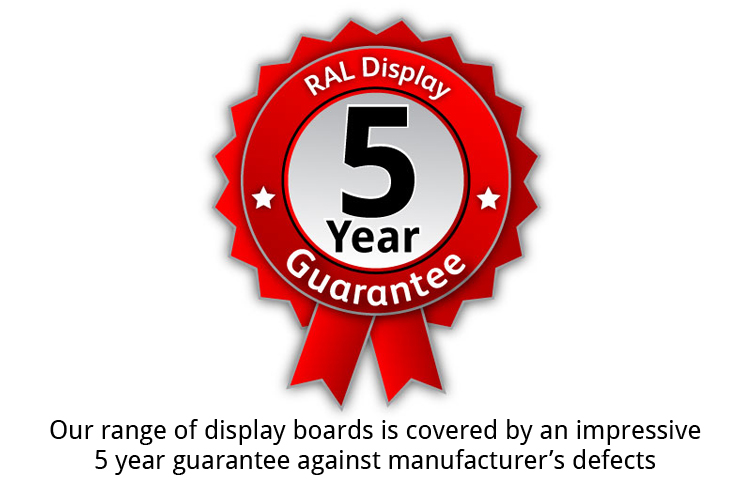Buy with confidence with out 5 year guarantee against manufacturer's defects