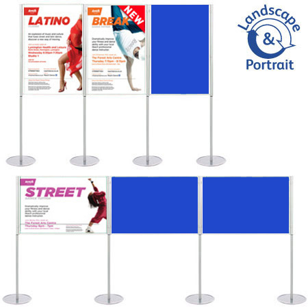 Use pins and Velcro to attach posters and presentation material