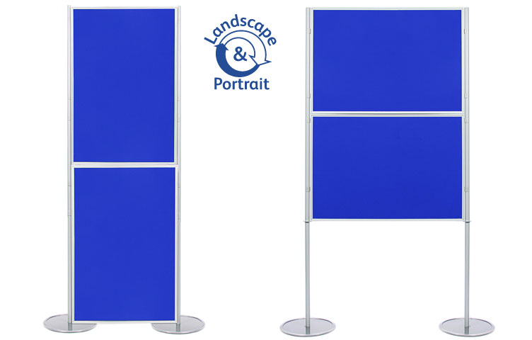 Panel and pole display stand with 2 display boards 900 x 600mm size.