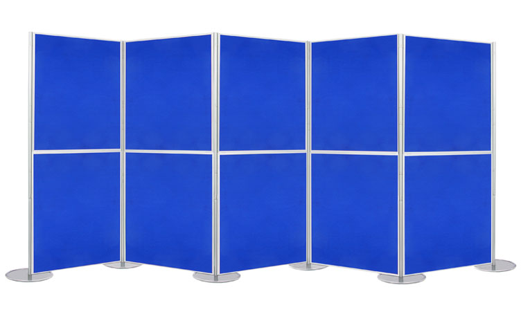 Display kits with 1 metre by 1 metre display boards.