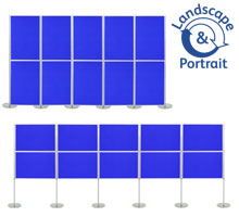 Pro-Link Panel & Pole Kit with 10x 1000 x 700mm Display Boards