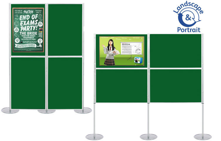 Attach posters to display boards using pins and Velcro