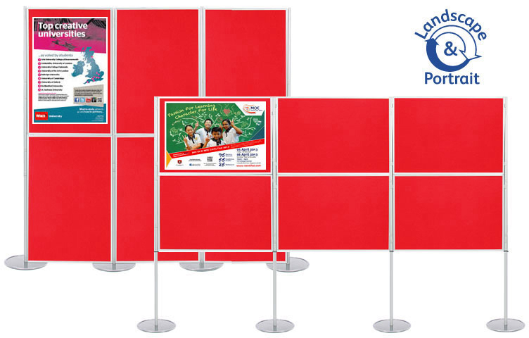 Display boards - fasten posters using pins and Velcro