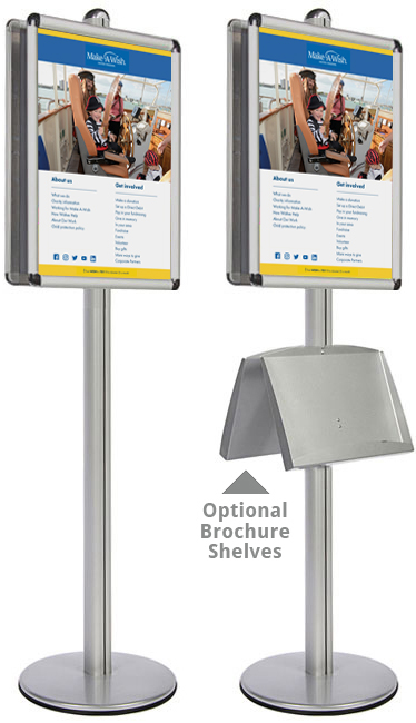 A1 sign stand perfect for retail environments