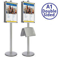 AXIS 4 - Double sided A1 Display Stand With Optional Shelves